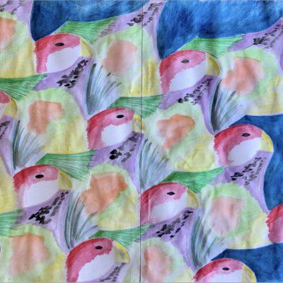 Escher Inspired Parrot Art